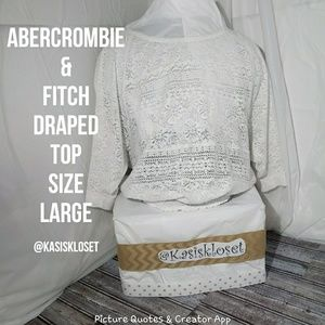 Abercrombie and Fitch White Draped Top